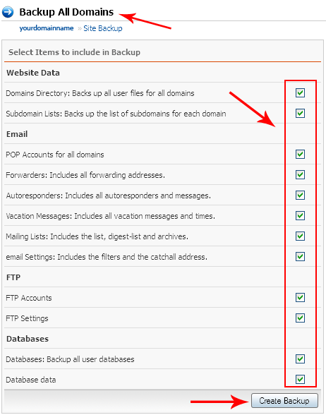 نحوه تهیه بک آپ Backup در هاست لینوکس در DirectAdmin